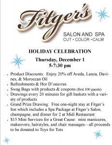 Holiday Celebration informational flyer