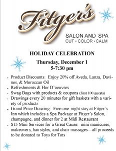 Holiday Celebration informational flyer