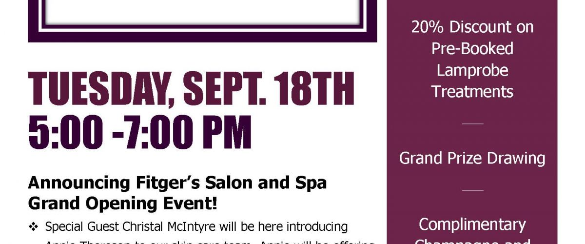 Newly Expanded Spa Area Grand Opening